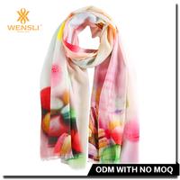 Hangzhou Wensli New Vietnam Printing Custom Pashmina Wool Shawls And Scarves