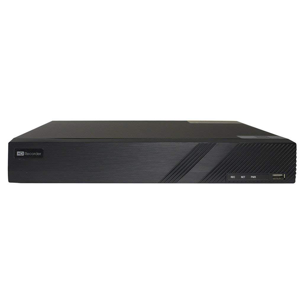 4 Channel mini 1U Onvif 4k NVR with built in 4 Port POE Switch, Supports up to 8MP resolution(3264x2448), motion detect, digital zoom, and smart search also includes free US Technical Support and Apps