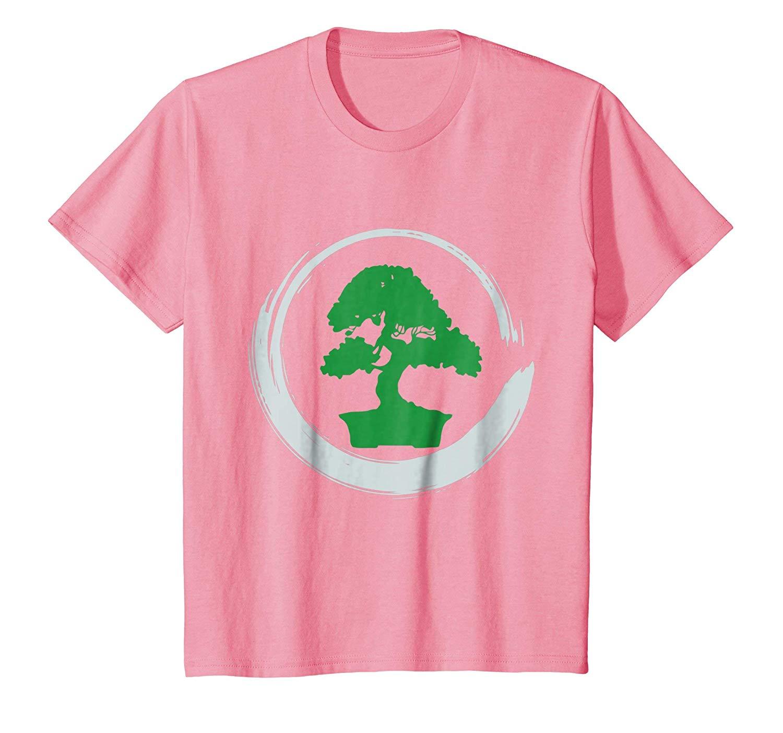 Bonsai Tree Buddhist Zen Enso Circle Calligraphy T-Shirt