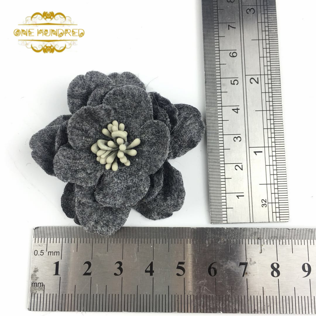 5cm New style felt flowers for scrapbooking clothing accessoires