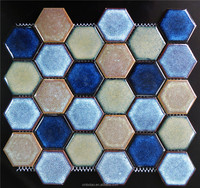 Bathroom wall kitchen backsplash mosaic tiles sheets designs hexagonal