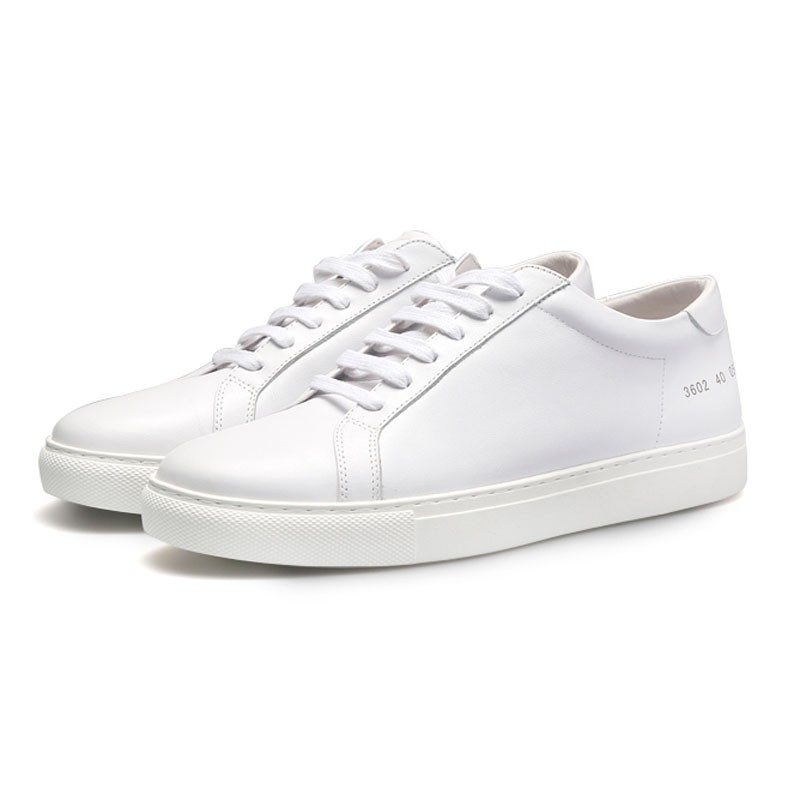 Brand design Casual Sneakers white lady Genuine leather Lace Up Shoes