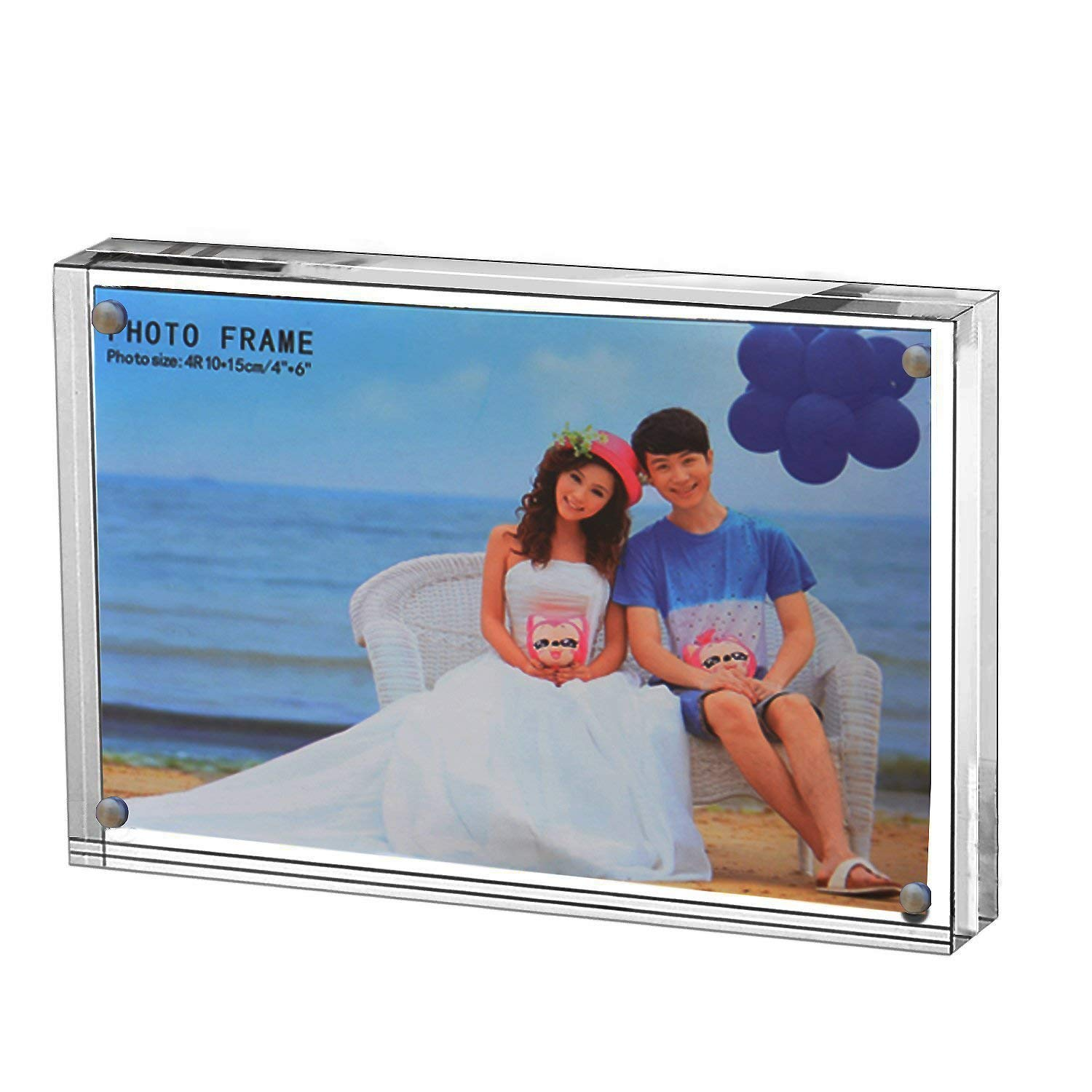Yakri crafts Free Standing Magnetic Acrylic Photo Frames,plexiglass Photo Prints (10, 5X7)