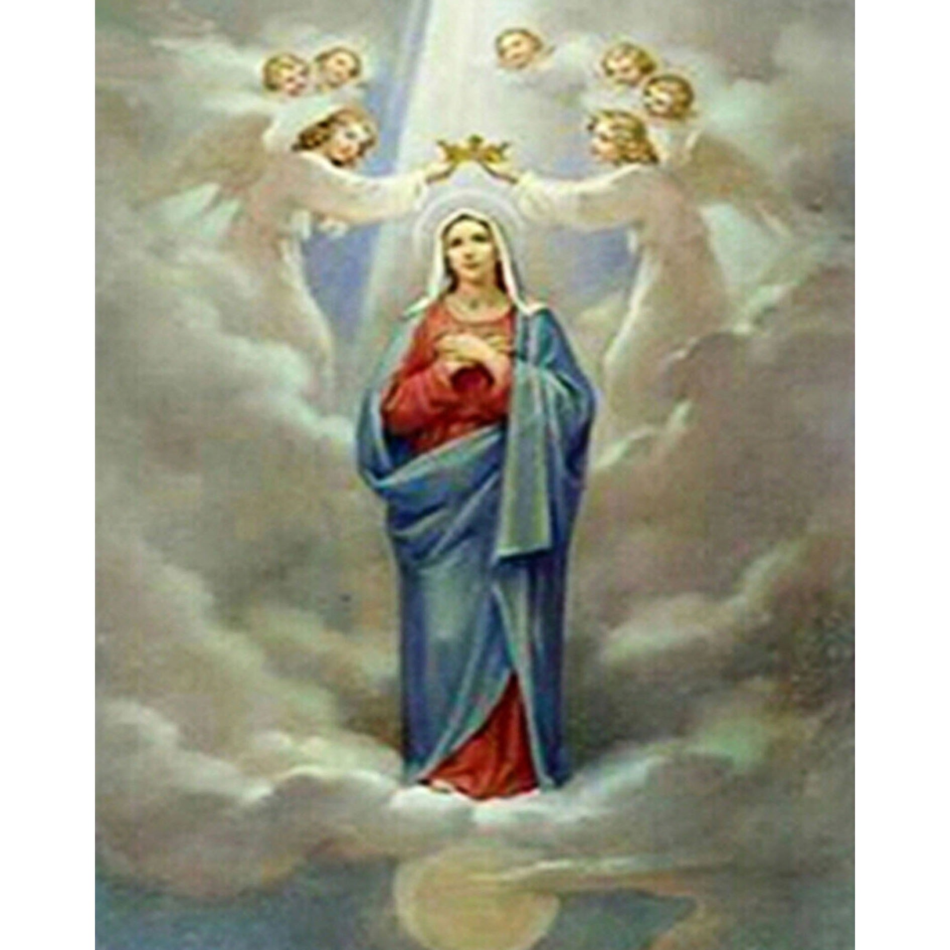 종교 Virgin Mary 와 angels diamond painting 3d oil painting by numbers 5d canvas painting.