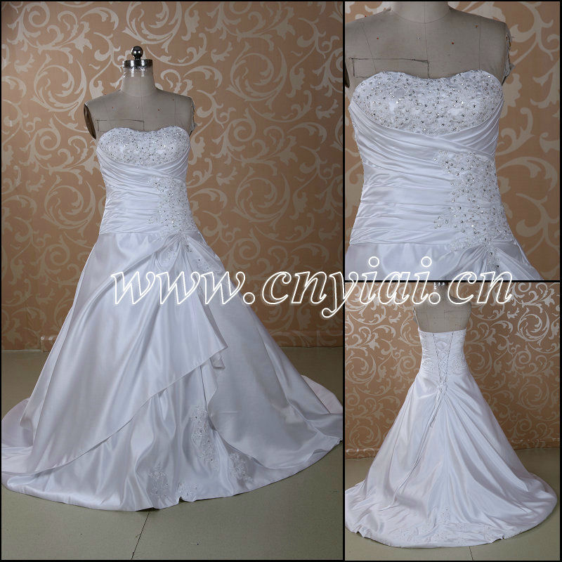 Jj3060 Shiny Silk Satin Floor Length Victorian Ball Gown Wedding