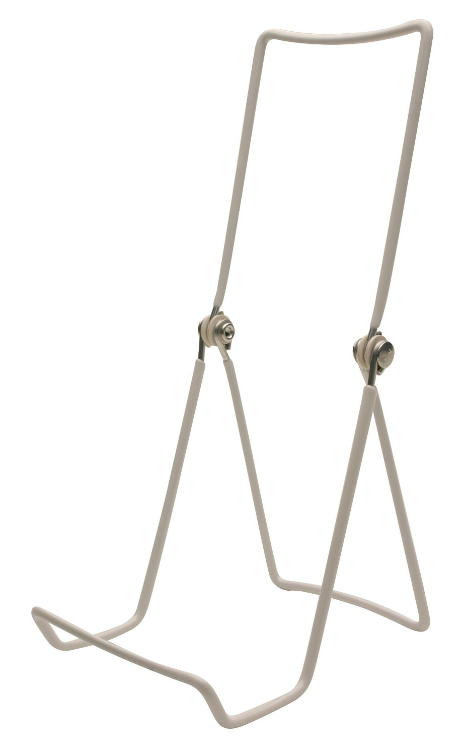 """6 Gibson Holders 6AC Adjustable Wire Display Easels- 3.75"""" W x 8"""" H with 2.25"""" display ledge, White"""