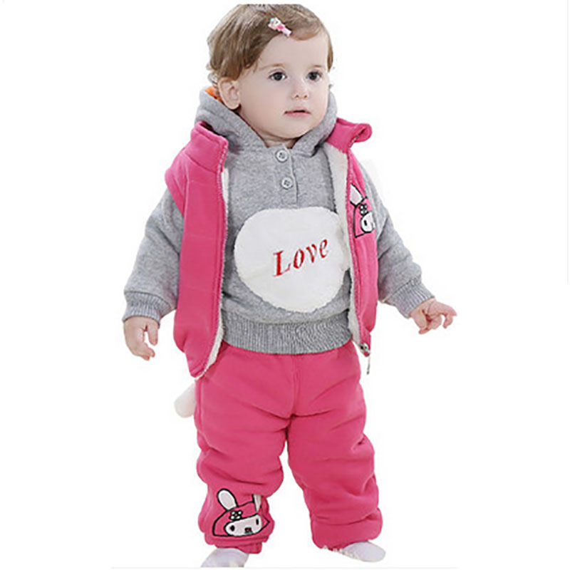622821d67396 Get Quotations · Thick female baby Beiji Rong super warm baby cotton cloths  girl clothing snow wear infant girls