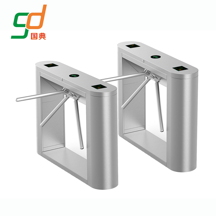 Automated security TCP/IP entrance control tripod turnstile