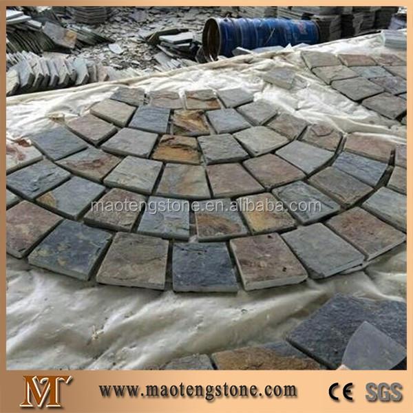 Xingzi Black Slate Flagstone Patio Flooring Pavers Dark Grey Slate Flagstone Wall Cladding For