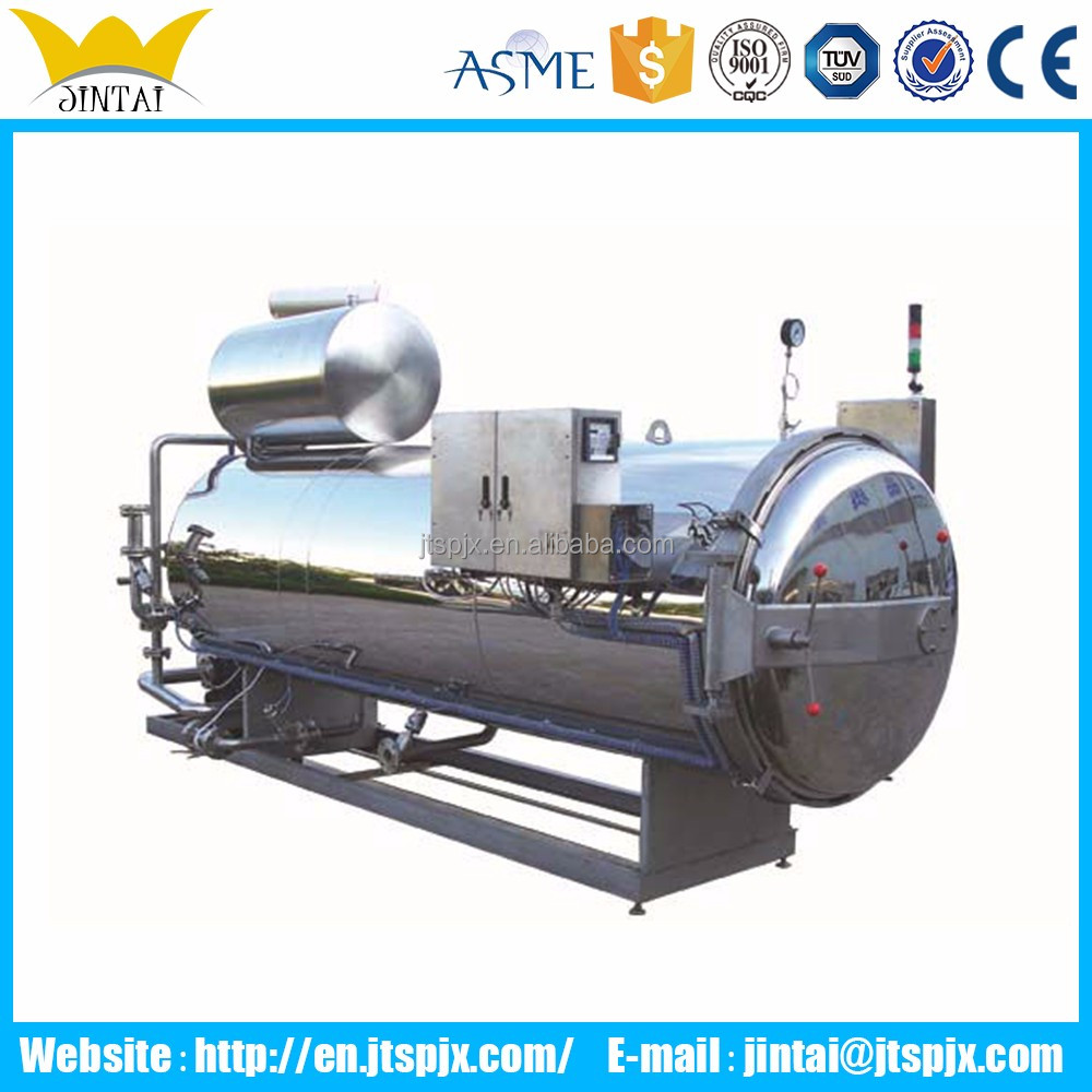 automatic water spray retort steam autoclave sterilizer for vacuum cooking bags