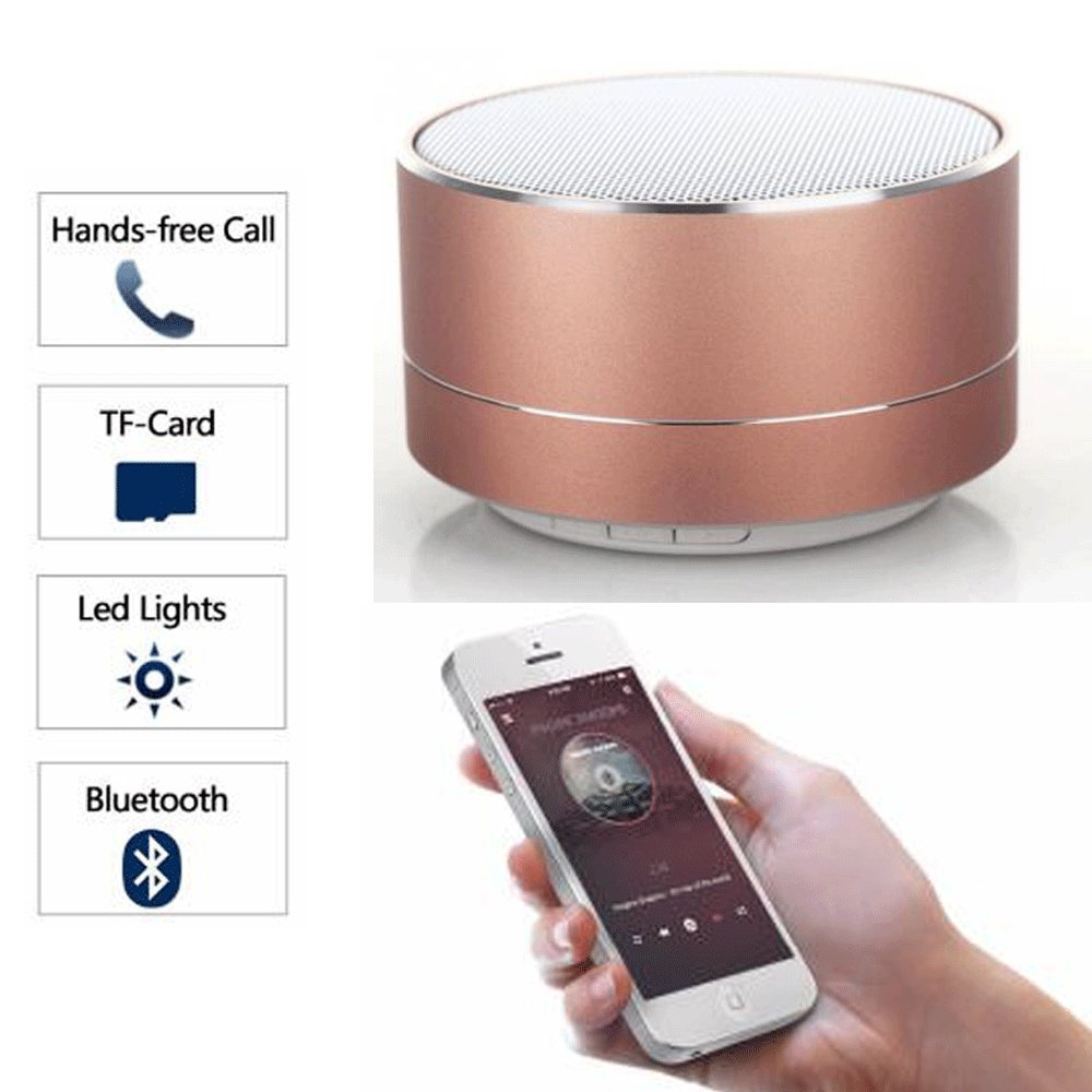 CCLOON Wireless Bluetooth Speaker Metal Mini Portable Subwoof Sound With AUX MP3 Music Play Loudspeaker, Outdoor Portable Speakers,Handsfree Calling,Bluetooth 3.0, FM Radio and TF Card Slot