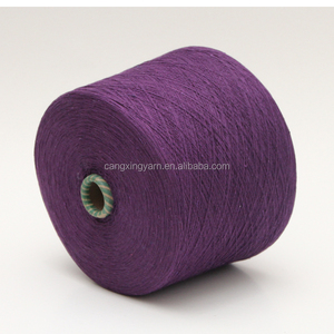 yarn spinning mill regenerated cotton open end blended sock knitted yarn