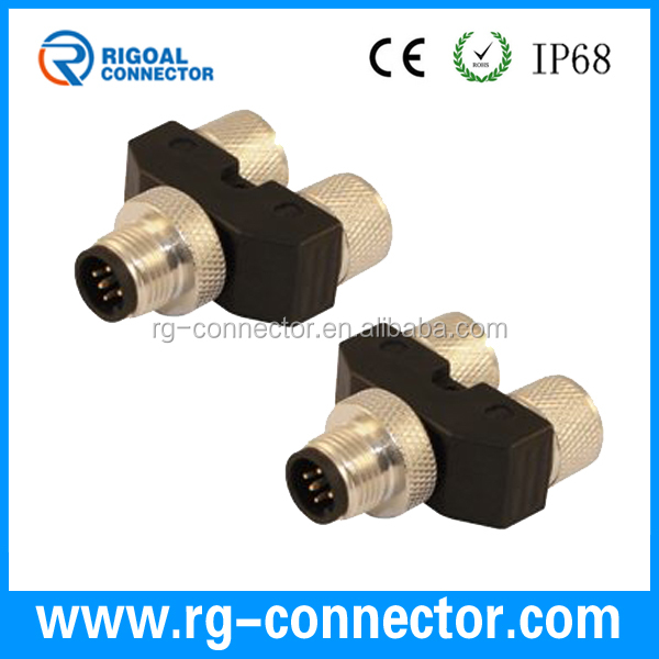 M12 4pins female Y type connector