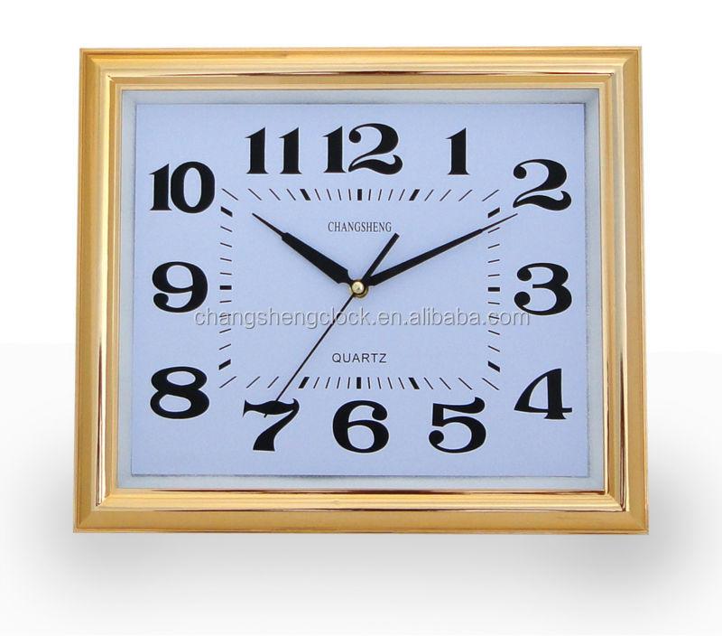 38 5 32 Cm Plating Persegi Jam Dinding Ukuran Besar