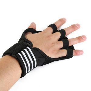 Best seller leather gloves fitness training body building gym training grip pad