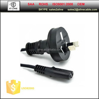 2-pin SAA power cord with finger 8 connector