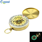 2018 Gold Color Outdoor Camping Pocket Keychain Fleur de Lis Brass Portable Compass for Hiking