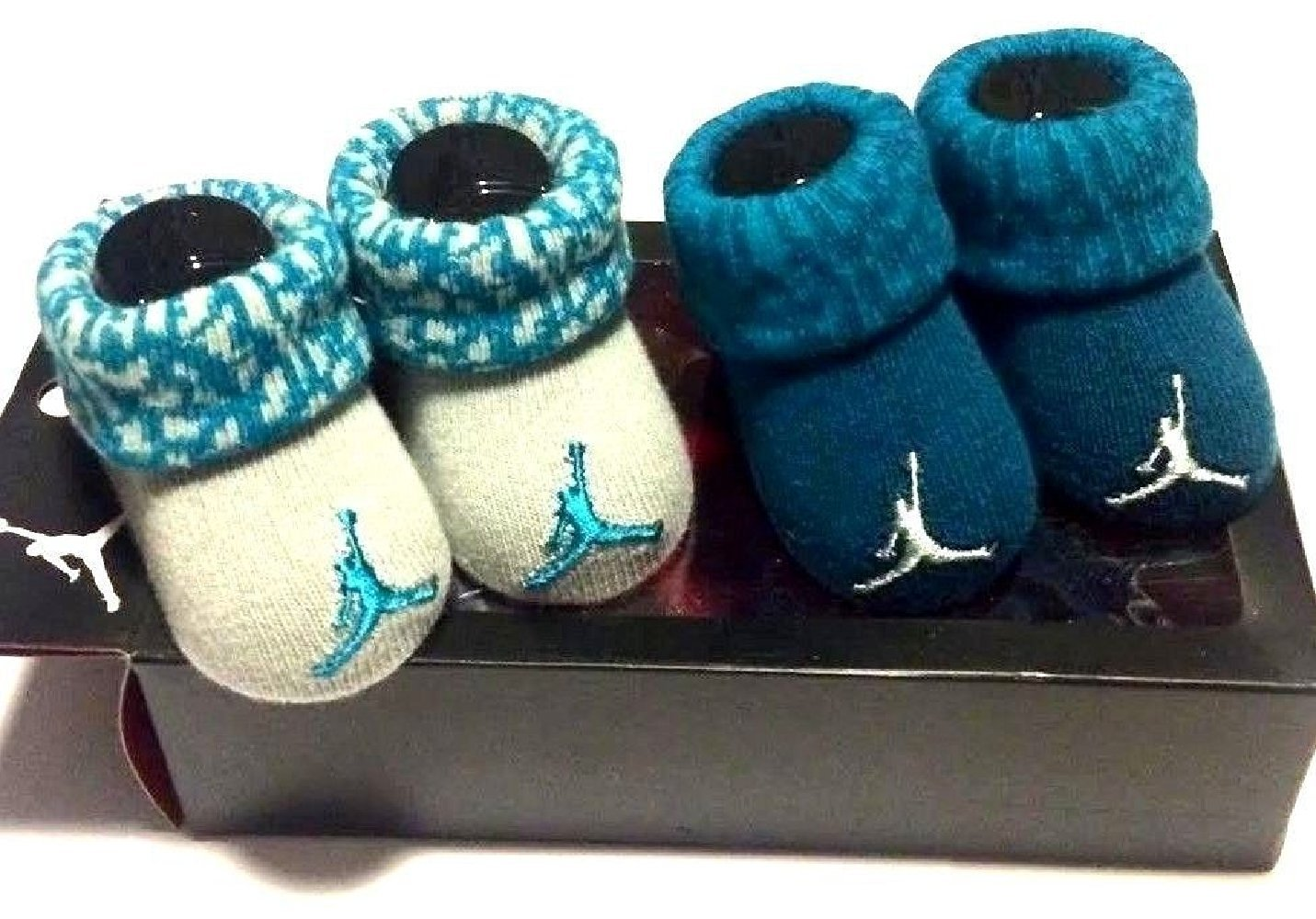 309fcf473b94b6 Get Quotations · Nike Jordan Infant Boy s 2-Pair Booties
