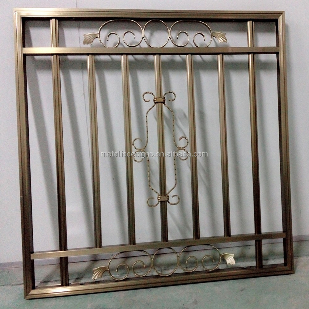 Modern Wrought Iron Window Grill Design - Buy Wrought Iron ...
