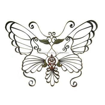 100Handmade Fashion Design Home Decor Metal Wall Art 3D Butterfly