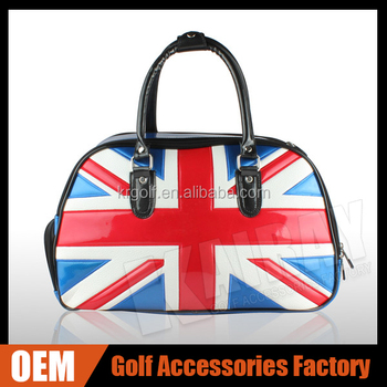 Oem Golf New Design Boston Bag Uk Flag Pu Leather