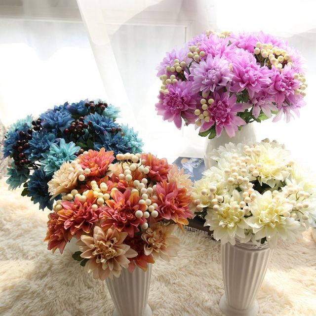 Buy cheap china silk flowers and fruit products find china silk 2017 new artificial dahlia berry bouquet fruit flower diy silk flower home party wedding holiday decoration mightylinksfo