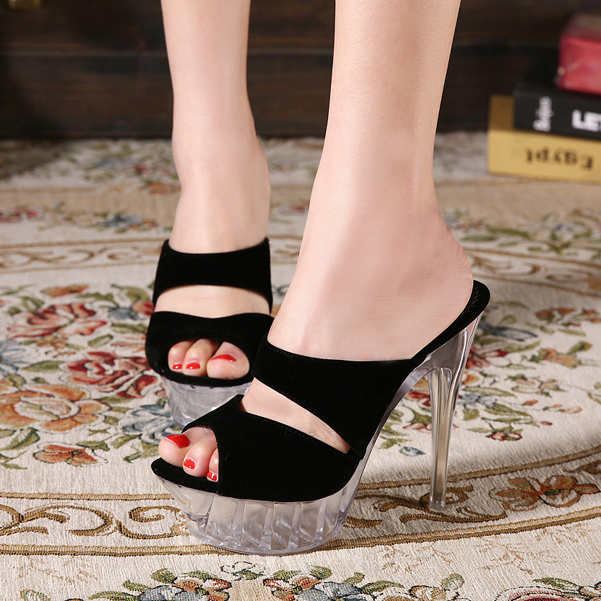 Confirm. join new crystal bottoms high heels