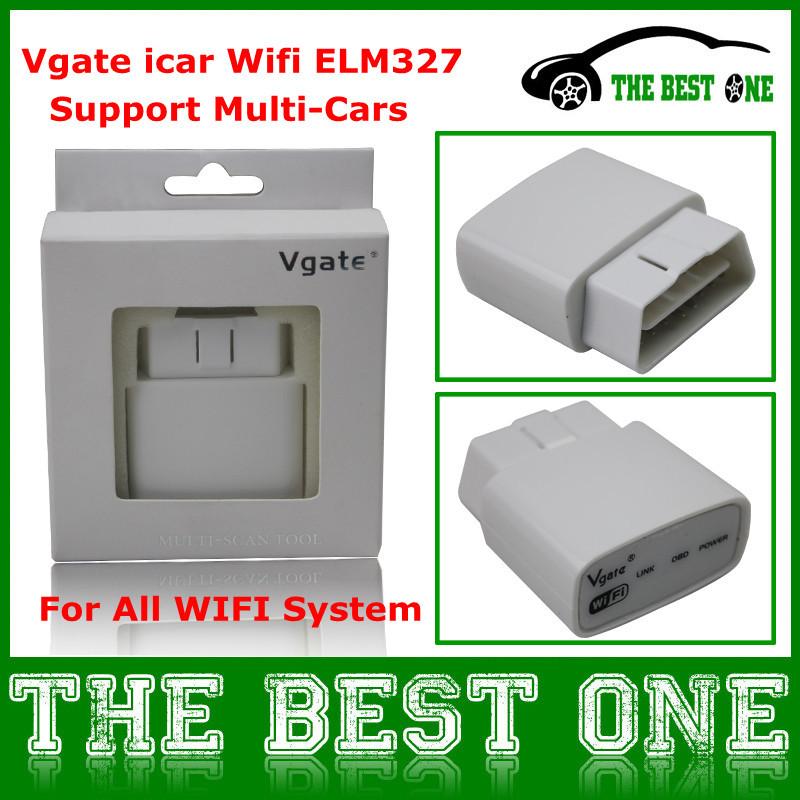 V1.4b Vgate икар wi-fi ELM327 OBD2 / EOBD автомобиль диагностический интерфейс Muliscan вяз 327 поддержка wi-fi ( Android Apple iPad .. )
