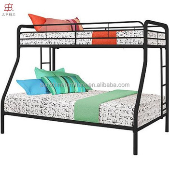 Cheap Twin Over Full Three Sleeper Bunk Bed Metal Double