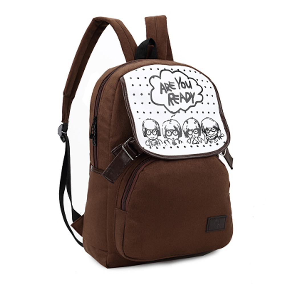 Hot sale brown colour new cute girl cartoon style bag children school bags kids backpack gift for children mochila infantil