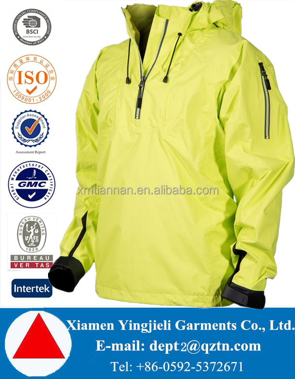 New design Fully sealed seams waterproof rain jackets for men with hood