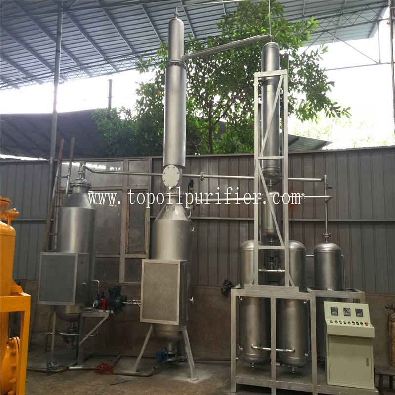 TOP manufacture car engine oil treatment machine, black oil regeneration, motor oil reprocessing