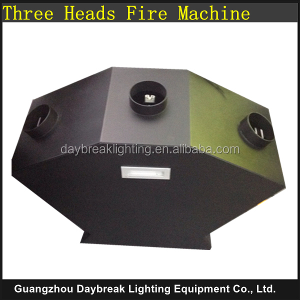 triple flame machine dmx512 stage three heads flame projector fire