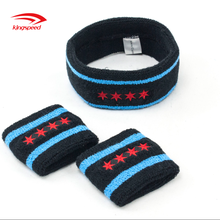 Factory customized elastic running towel sport sweat head and wrist band gift set