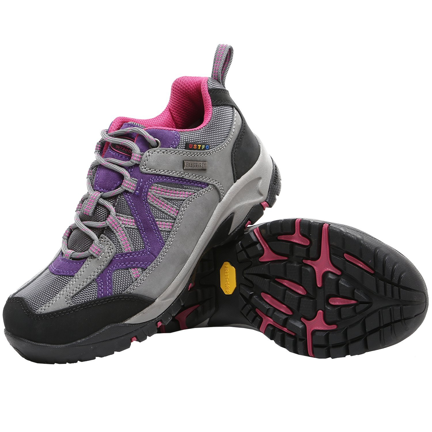 TFO Womens First-Tex Water-Resistant Breathable Lightweight Hiking Running Shoes Outdoor Trekking Sneakers