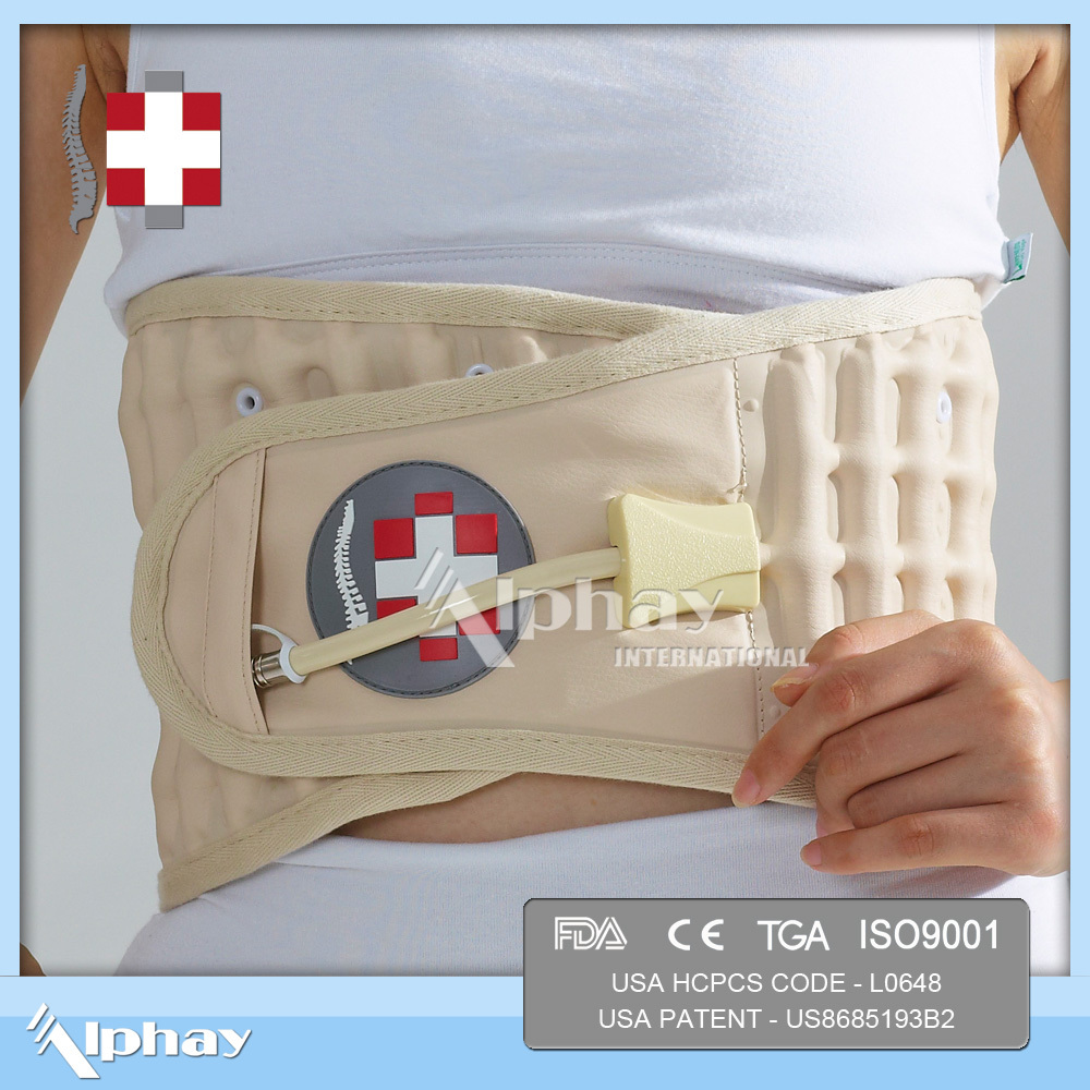 orthotic lumbar traction waist support belt for sciatica spondylosis