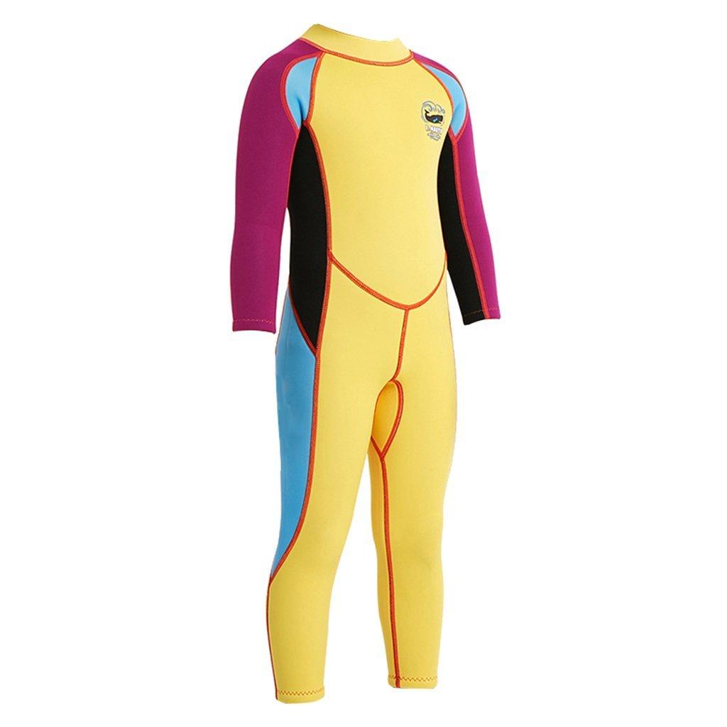 MagiDeal 2.5mm Neoprene Kids Full Body Long Sleeve Diving Swimming Wetsuits S M L XL