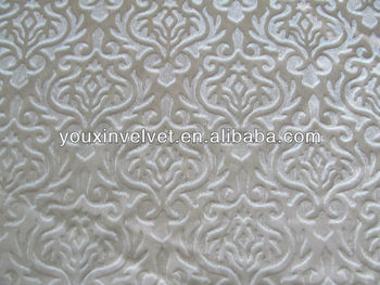 100 Polyester Embossed Velvet Fabric With Metallic For Curtian