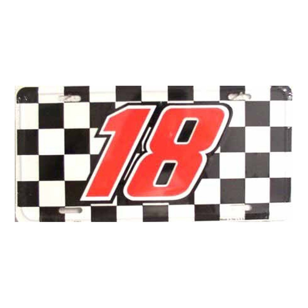 Checkered Racing Flag Novelty Metal Vanity License Tag Plate
