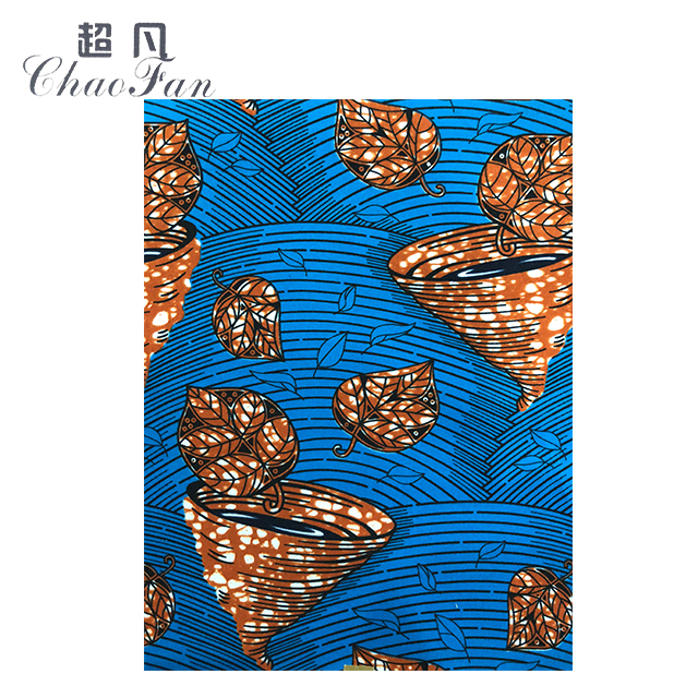 Customizable 100 Polyester Twill Authentic African Print Fabric