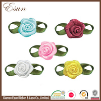 2017 custom various size cheap wholesale ribbon artificial flowers