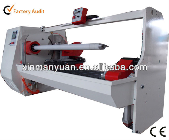 Single Tube Automatic Roll Material Slitter