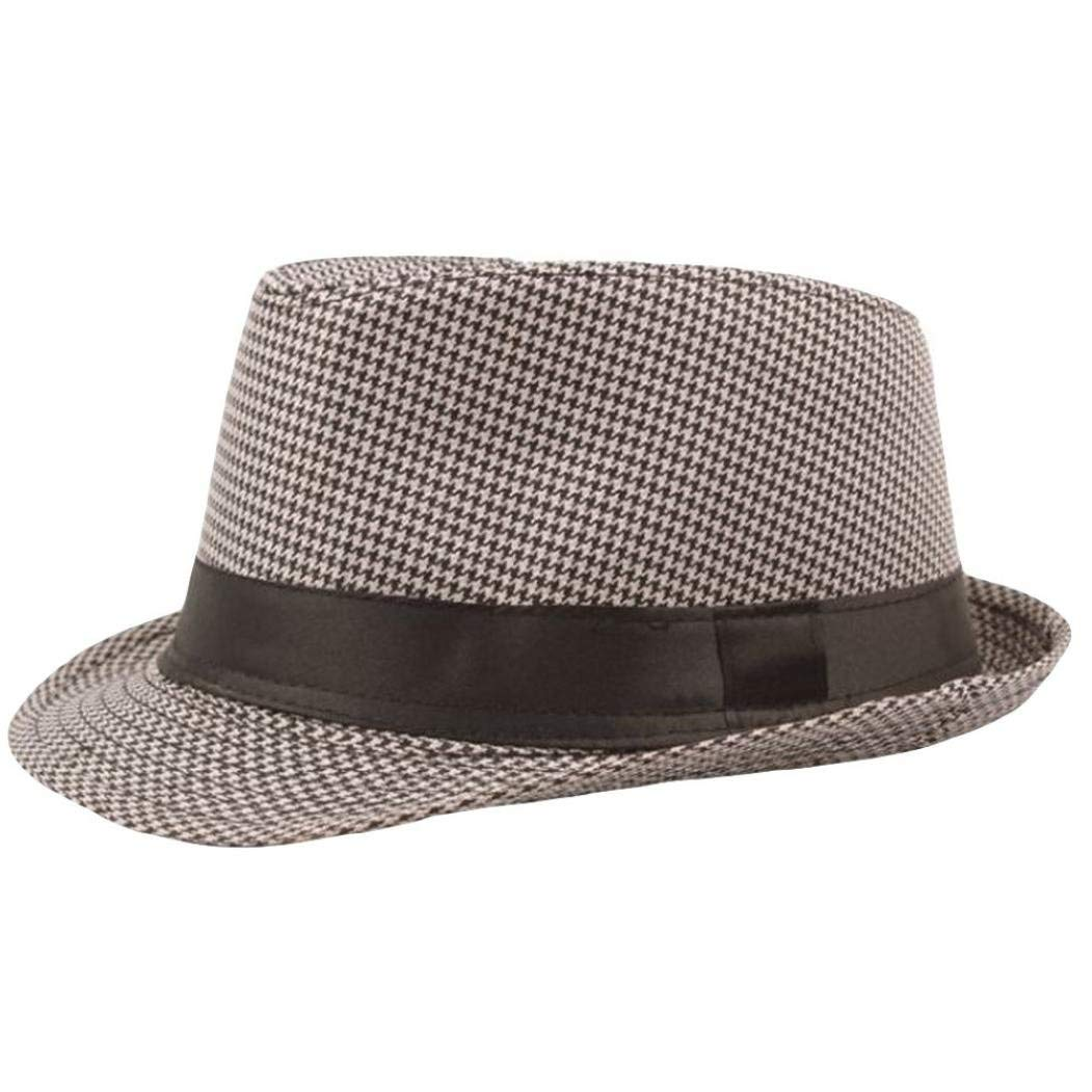 3bba839b66e Get Quotations · Summer Panama Straw Fedora Hat for Women and Men
