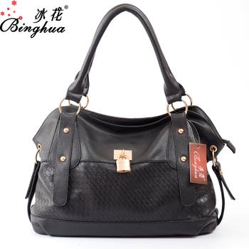 2017 Online Hot South African Dubai Products Women Fashion Weave Pattern Leather Handbag Guangzhou
