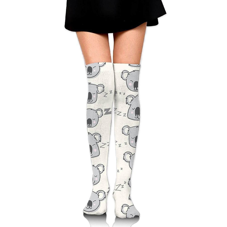 Zaqxsw Sleep Koala Women Vintage Thigh High Socks Thermal Socks For Ladies