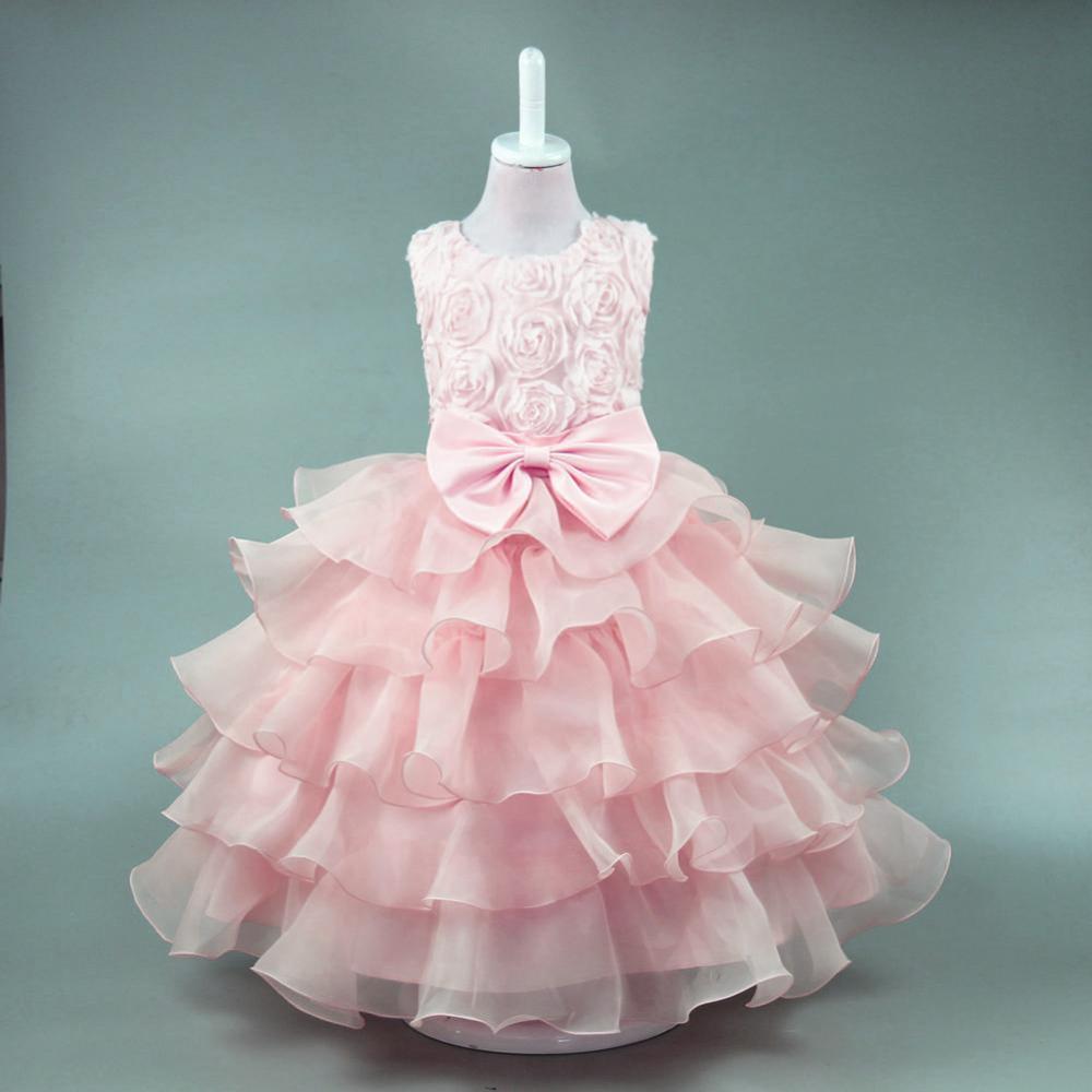 Niños princesa hinchada boda pequeña niña vestidos para niños ...