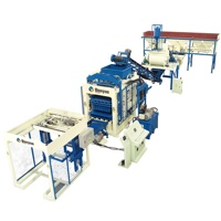 Construction equipment QT10-15 vibrated automatic cement brick paver block making machine