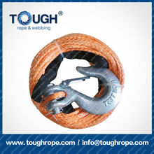 TOUGH ROPE manual winch synthetic 4x4 winch rope with hook thimble sleeve packed as full set
