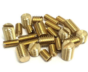M1.6 M2 M3 M4 custom made brass slot set grub screw