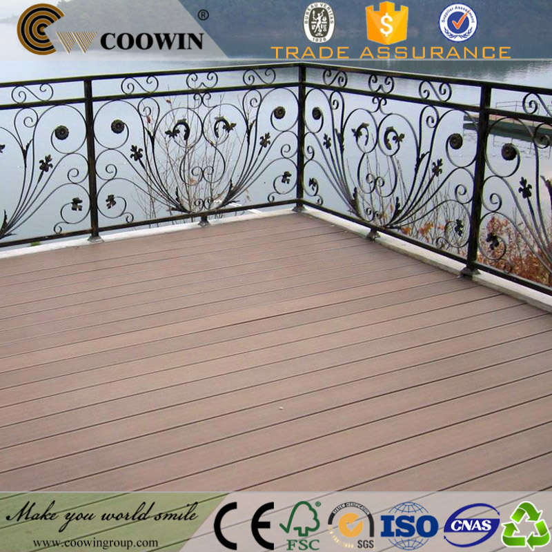 Outdoor leisure places used nonslip pvc composite decking